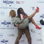 RT @SDEKenya: As Tony Mochama and @AvrilKenya fool around on the red carpet #MCSKAwards2014 #CelebrityingKenya #MashujaaDay http://t.co/nWbv8mL75k