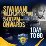 RT @ChennaiyinFC: #ChennaiyinSivaMani will play for us 5 pm onwards! Join the party, let's #RoarForChennai! #LetsFootball #ChennaiyiFC
