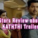 RT @kalakkalcinema: Stars Review about #Kaththi Trailer http://t.co/8X9ga06Bh6 #Vijay #ARMurugadoss #Samantha #Anirudh #ActorVijay#
