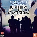 RT & Follow @GatoradeUK to win a VIP Experience at Wembley for Detroit @Lions v @Atlanta_Falcons 26.10.14 http://t.co/W2bQbZrsbl