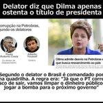 A verdade foi revelada, à anta leviana é apenas um fantoche do PT. #ForaDilma #EmTodoBrasilAecio45 #ForaPT #45Já http://t.co/BC2RggMBMR
