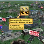 FIRE in #MorrellPark #Baltimore CLOSES Georgetown Rd. b/w Desoto Rd. & Forest Hill Ave. ALTERNATE: Washington Blvd. http://t.co/B4zjWIBbBh