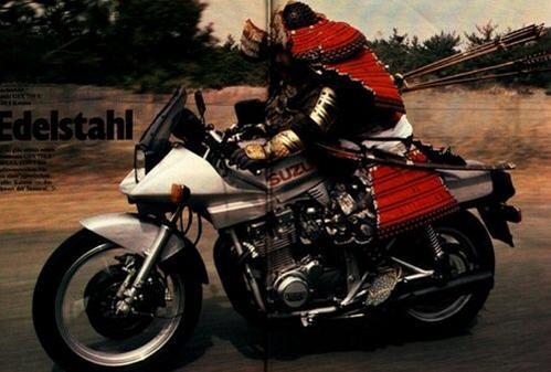 """武士もバイクに! """"@crust_dealer: その後ちゃんとバイクに乗ってる騎士も見つけました http://t.co/DkcX0SBYTu"""" http://t.co/42SwWjsYJb"""