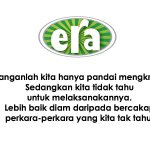 RT @ERA_fm: Elakkan mengkritik dan bercakap perkara yang kita tidak tahu... #motivasi #sajakongsi http://t.co/dHsRbgfhKI