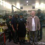 Minister Davies with workers at Robertson Winery http://t.co/KG5W1aEgjv