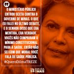 """""""Venderam 30 % da Petrobras a preço de #banana"""" """"Quer colocar na pauta privatização da Petrobras"""" #QueroDilmaTreze http://t.co/EAtWFIpXt0"""
