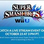 Le 24 Octobre à minuit en France. Découvrez + de 50 nouvelles choses dans Smash Bros Wii U http://t.co/9UG5Jw3N4J http://t.co/Gn0l8XribQ