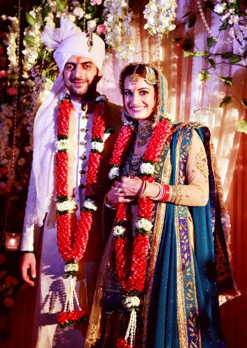 Actress Dia Mirza gets married to beau and business partner Sahil SanghaMore photos here http//tco/