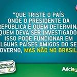 RT @Zaga_Silos: Sinto muito Dilma, mas você não mandou investigar ninguém no caso da Petrobras. Você é que foi investigada e rodou! http://t.co/OdnYMiFpkc