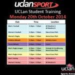 #UCLan Student Training TONIGHT @UCLanArena @UclanMensFC @UCLanWFC @UCLanAthletics @UCLanTennis @UCLanWomenRugby http://t.co/ECfvxtCNgo
