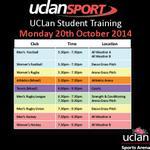 #UCLan Student Training TONIGHT @UCLanArena #UCLanSport Get Involved! @UCLanRL @UclanRugby @UCLan_Hockey http://t.co/w9cgiKU6lx