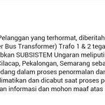 RT @Jogja24Jam: Kenapa mati lampu? ini penjelasan dari PLN. http://t.co/YIpHS4pk94
