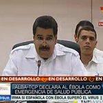 RT @vencancilleria: #AHORA | Pdte. de #Venezuela, @NicolasMaduro lee documento del #Alba para combatir el virus del Ébola. http://t.co/jIQ26fMMCS