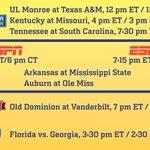 """Night game in Davis Wade for Arkansas on November 1st. ESPN or ESPN2. """"@SEC: http://t.co/xJHGTEonIg"""""""