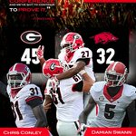 Victory Poster | #Dawgs 45 Arkansas 32 #Finished http://t.co/B7vP4rwf9v