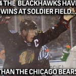 RT @NHLonNBCSports: In 2014, the @NHLBlackhawks have more wins at Soldier Field than the Bears. http://t.co/MNk6JmThCq