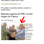 RT @stanleyburburin: Folha de 2001: FHC se encontra com Fidel Castor e Chávez http://t.co/TxhcGHB5XT #Aecio45 http://t.co/O1DuDiAcEq