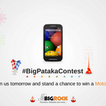 RT @BigRock: Join us tomorrow at 12pm to get all details of the #BigPatakaContest. #MotoE up for grabs #Contest #Dhanteras #Diwali http://t.co/omifBoeAPn