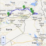 Map of one #Turkey passage for Peshmerga #Iraq into #Kobane in #Syria. Key to avoid cities under #ISIS: Mosul & Raqqa http://t.co/7aLNS10JtA
