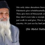 """RT @AQpk: #Pakistans best philanthropist #Edhi: """"#Pakistanis are good people, ruled by bad people"""" http://t.co/naZqgxy1gr #FailedPakDemocracy"""