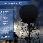Good morning #RGV and Deep South TX! We had a beautiful sunrise with lows in the lower 70s. Have a great day! #txwx http://t.co/KlpeZyXAE6