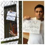 RT @carlosvecchio: Por este mensaje castigaron a Leopoldo y Daniel. Castiguemos a Maduro.Envía tu mensaje #ONUlibertadpresospoliticos http://t.co/vU3empXcZe