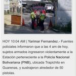 via @gererfer: Y ahora? Roban armas de la PNB en Guarenas | http://t.co/CQZfA0bw5p @trafficVALENCIA @trafficMIRANDA http://t.co/mo8KBZ2TTL