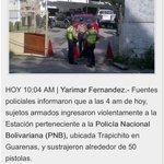 RT @gererfer: Y ahora? Roban armas de la PNB en Guarenas | http://t.co/vdhrn4Pcd7 @trafficMcbo @Lacelis @Tururunes @alejandraoraa http://t.co/RBPZgPEiZA