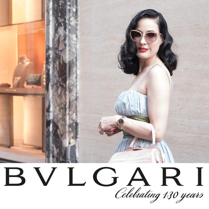 "Dita Von Teese @ditavonteese: RT ""@Bulgariofficial: Inspired by light, #LVCEA #watch inspires glamorous women – @DitaVonTeese http://t.co/uieQ1Z9mHN"""