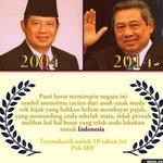 RT @hendraichie: terimakasih pak SBY @SBYudhoyono for the past 10 years #TerimakasihSBY http://t.co/sEMhNxOU2u