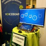 RT @LionsharpCom: #TCDisrupt @johnbiggs thanks for stopping by our #Voiceboard powered stand. http://t.co/HQSHRLhuDB