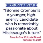 RT @BonnieCrombie: I have a bold vision for #Mississaugas future and will remain committed to Hazels legacy of fiscal responsibility. http://t.co/qItfOTdSEs