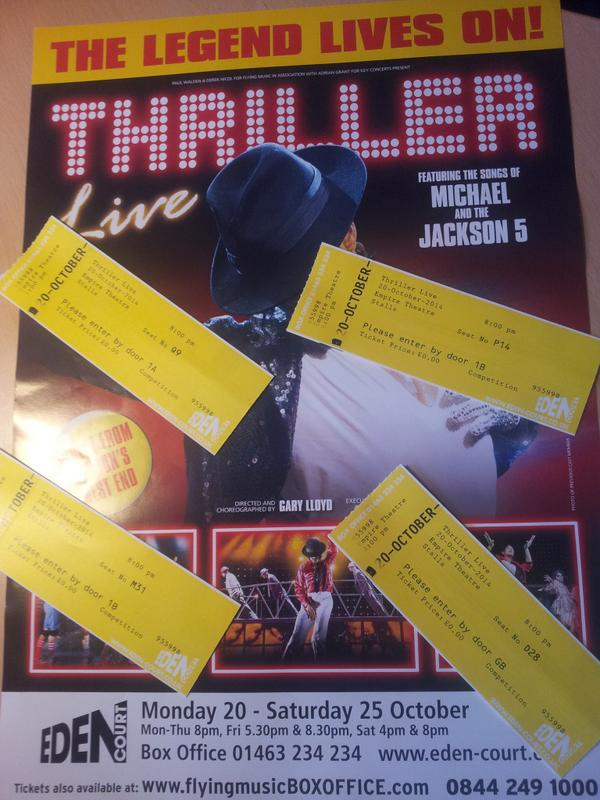 We have FOUR pairs of THRILLER LIVE tickets 2 give away for tonight's opening show - RT to be in with a chance to win http://t.co/w9v7xRggXg