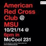 RT @MaroonVolunteer: Interested in disaster preparedness? The MSU Red Cross Club meets 10/21 @ 6pm in McCool 231 @MSU_RedCross26 http://t.co/bydXUEk5up