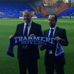 Micky Adams officially starts as his job as the new @tranmererovers. Hes joined by Chris Shuker as his assistant. http://t.co/x1U055naLc