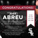 Congratulations, @79JoseAbreu! http://t.co/C63JB7uwyS