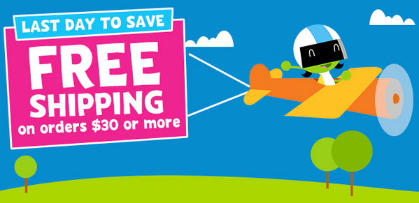 Today is the last day for free shipping at the pbs kids shop when ...