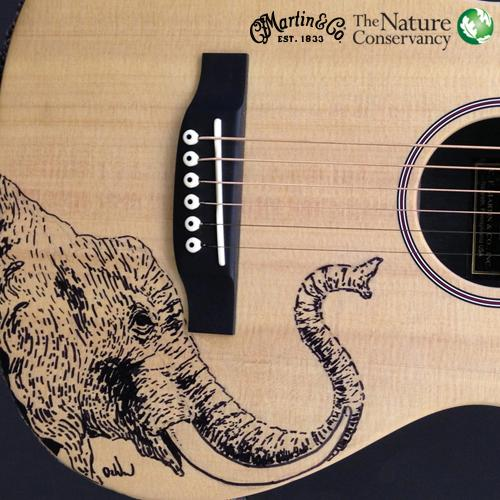 I drew an elephant on a Martin to help @nature_africa #SaveElephants @MartinGuitar http://t.co/XQXkdTHOIH http://t.co/JpKT5SbILM