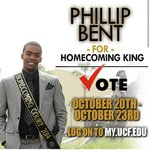 Voting starts today for Homecoming. Be sure to vote Phillip Bent for Homecoming King via MyUCF now until Thursday. http://t.co/VSMsGittLS