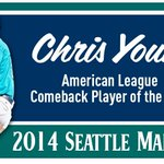 RT @Mariners: Congrats to Chris Young, 2014 AL Comeback Player of the Year! #Mariners http://t.co/v137QqkxDu