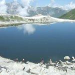 RT @Awaishooo: Aansoo Lake..!! #beautiful #Pakistan http://t.co/aUIaZWKIRb