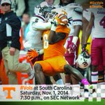 #Vols game at @GamecockFB will kickoff at 7:30 p.m. ET and air on @SECNetwork http://t.co/gYl6OztmLZ