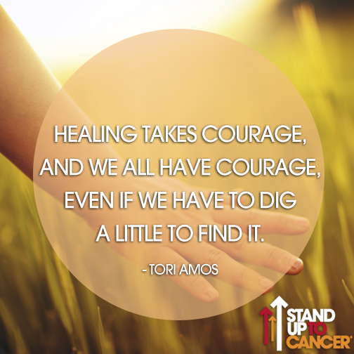 We see the #courage in all of our #StandUpToCancer supporters! http://t.co/wis9htLSGg