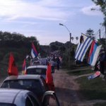 RT @CeliBarolin: En Colonia se está armando flor de caravana Frenteamplista. #UruguayNoSeDetiene http://t.co/YYVC6xJgLK