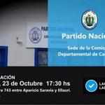 Inaug. de la Sede de la Com. Dep de Canelones / jueves 23 de Oct. / 17:30 hs / Pilar Cabrera 743 - Las Piedras http://t.co/YZrIIaJYSz