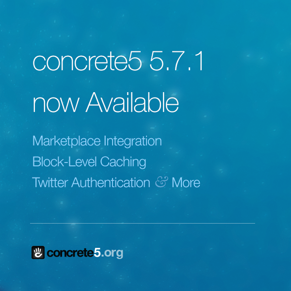 In case you missed it last week, 5.7.1 is now Available http://t.co/xQxCBOqoDA #concrete5 http://t.co/RtkYv4Adq4