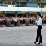 "RT @letysalazarmx: Esta mañana acudí a la Esc. Sec. Gral. No. 7 ""Ricardo Salazar Ceballos"" de #Matamoros a realizar honores a la bandera http://t.co/2lyduH75g5"