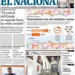 Venezolanos con los bolsillos vacíos, es la primera página de @ElNacionalWeb http://t.co/nL7gcRmQKA