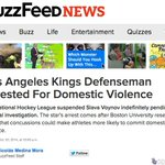 wow, what a lede RT @BuzzFeed: Los Angeles Kings Defenseman Arrested For Domestic Violence http://t.co/aK8ig2rPPT http://t.co/2toLXQUctr