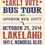 The Get Out the Early Vote Bus Tour is coming to Lakeland this Saturday. I hope to see you there! #lkld #sayfie http://t.co/y1hlJ90f0A